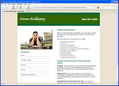 Camano Bookkeeping Web Site